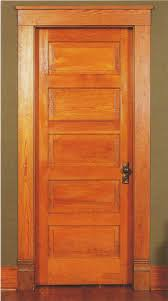 a typical 5 light shaker style door used in craftsman homes