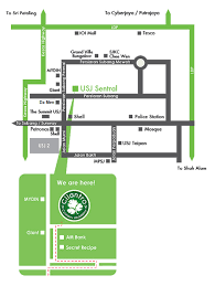 map usj 1 our location