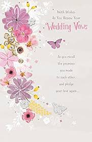 vow renewal cards congratulations renewing of wedding vows card co uk office products