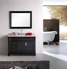 Vanity Set Bathroom Design Element Hudson Single 48 Inch Transitional Bathroom