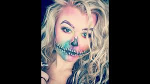 Colorful Halloween Makeup by Colorful Skull Halloween Makeup Tutorial Youtube