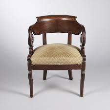 bureau acajou fauteuil de bureau en acajou epoque restauration 2016120034
