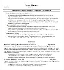 Example Resume For Maintenance Technician by Sample Construction Resume 5 Documents In Pdf Word