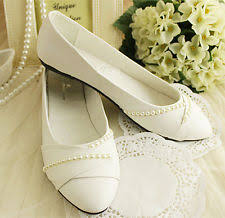 Wedding Shoes Size 9 Flat 0 To 1 2 In Pumps Classics Bridal Shoes Ebay