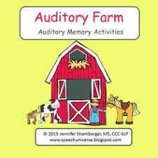 free auditory memory worksheet sentences containing 8 10 words