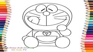 doraemon coloring pages for childrens draw and color doraemon