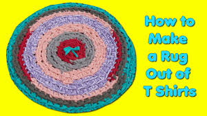 How To Make A Rag Rug From T Shirts How To Make A Rag Rug Out Of T Shirts Youtube