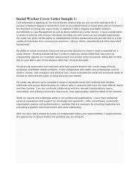 family social worker cover letter