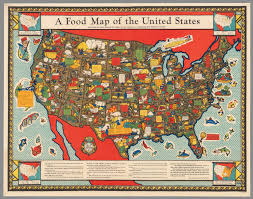 Map Of Unites States by A Food Map Of The United States David Rumsey Historical Map