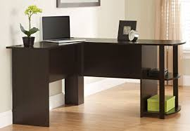very elegant l shaped wood desk thediapercake home trend