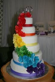rainbow wedding cakes rainbow rose wedding cake u2014 round wedding