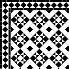 Border Floor Tiles Box U0026 Star Diamond Border Black U2014 Mosaics By Post