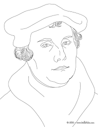 martin luther german protestant reformer coloring pages