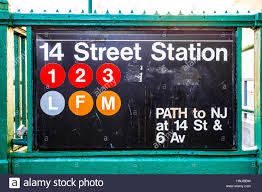 entrance tonew york city subway sign with iconic circles letters