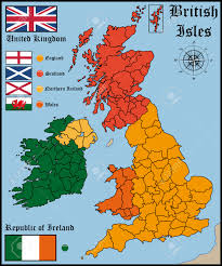 Map England by Map And Flags Of British Isles Royalty Free Cliparts Vectors And