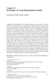 economics of land degradation in india springer