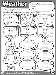 the weather worksheet 2 b u0026w version esl vocabulary