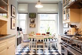 collaboration on black and white kitchen floor ideas