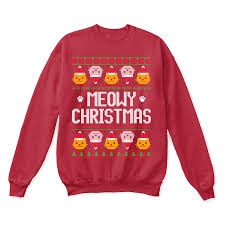meowy christmas meowy christmas and happy new year cat lover sweater teeqq