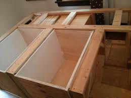 awesome diy bed frame with storage u2014 modern storage twin bed