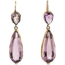 amethyst drop earrings regency amethyst gold drop earrings for sale at 1stdibs