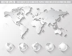 Cool World Maps by An High Quality World Map In Tones Of Grey With A Cool Flat Shaded