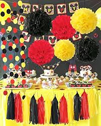 mickey mouse baby shower decorations qian s party mickey mouse color party supplies yellow