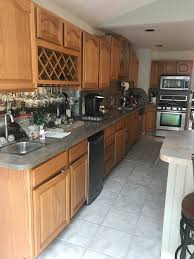 how to paint oak cabinets grey oak kitchen cabinets paint color