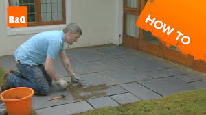 How To Make A Flagstone Patio With Sand How To Lay A Patio Youtube