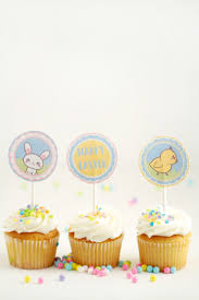 cupcake toppers free printable easter cupcake toppers frugal eh