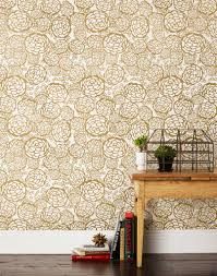 Powder Room Wallpaper by Petal Pusher Gold Powder Room Wallpaper Gold Wallpaper And Paper