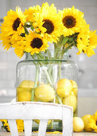 sunflower centerpiece brown brighten up your day with sunflower displays