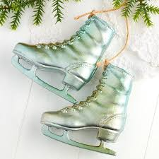 vintage inspired skates ornament ornaments