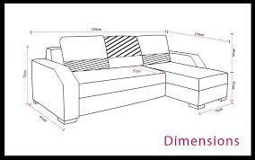 dimension canapé lit canape d angle violet 9 dimensions canap233 dangle convertible