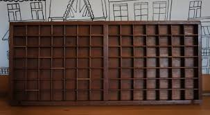 old wooden printer trays designs