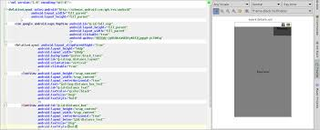matrix layout xml view android is possible to view both graphic layout and layout xml in