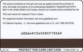applebee gift card applebees gift card amount gift card ideas
