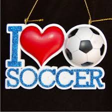 Soccer Ornaments To Personalize I Love Soccer Family Christmas Ornaments Personalized By Hand By