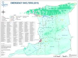 Port Of Spain Map by Shelters Office Of Disaster Preparedness And Management Odpm