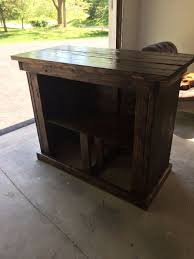 Outdoor Patio Bar Outdoor Patio Bar With Shelf 7 Steps With Pictures