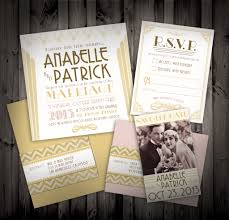 great gatsby wedding invitations the golden age twenties gatsby themed weddings and deco