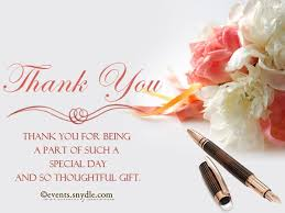 sles of thank you notes thank you note for wedding invitation wedding invitation