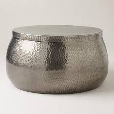 silver drum coffee table coffe table coffe table coffee drumetal from house of fraser dfs