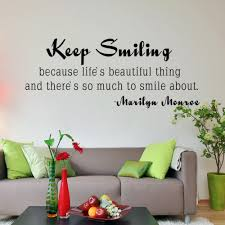 marilyn monroe quote keep smiling inspirational life wall quotes marilyn monroe quote keep smiling inspirational life wall quotes sticker vinyl art decal 46