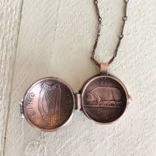 coin jewelry necklace images Coin jewelry coin locket necklace kelly annie JPG