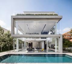 concrete home designs pitsou kedem design a home of concrete and glass contemporist