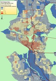 Seattle Bus Route Map by Census 2010 City Of Seattle Household Density Map Build The City