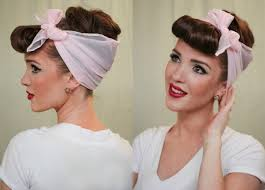 pinup clip in ponytail with bangs the freckled fox modern pin up week 4 easy faux bangs