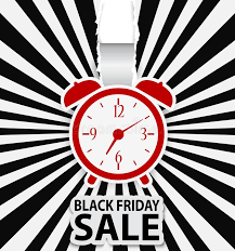 black friday free black friday sale design with alarm clock royalty free stock