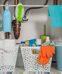 easy under the sink storage ideas real simple